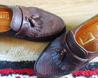 SALE- Mocassins| vintage mocassins| Avang Shoes| vintage shoes 6.5| vintage shoes 38| vintage shoes 7.5 us| vintage leather mocassins 38