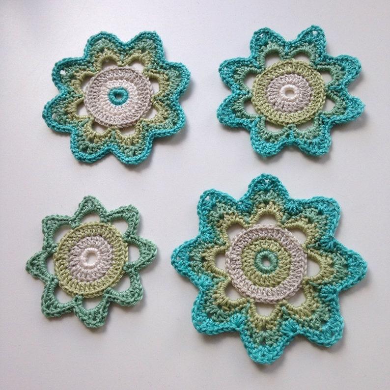 Pattern for crochet retro flower. PDF pattern for crochet image 0