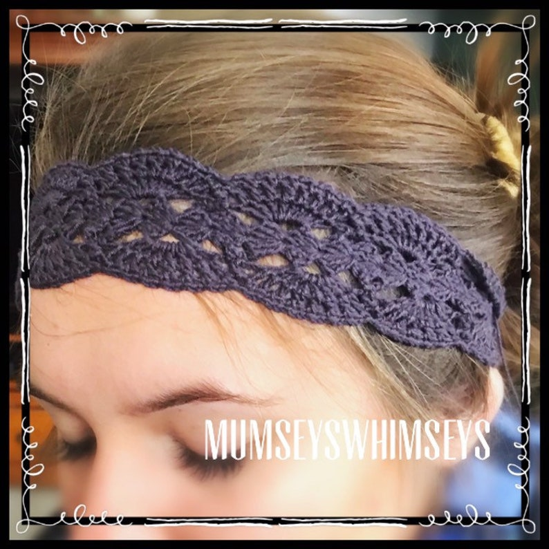 Ready To Ship Crocheted Lace Headbands Boho Work Out Daily Etsy