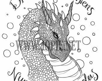 Draco Dormiens Nunquam Titillandus Coloring page
