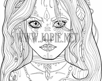 Unseelie Fairy Colouring Page
