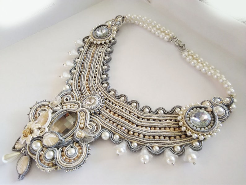 Necklace Collar Soutaches Elegant Jewel Hand Made Jewelry Etsy