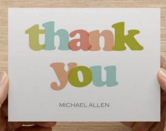 Baby thank you card: Personalized and personally designed baby shower thank you card!  Unisex. Multiple pack sizes available!