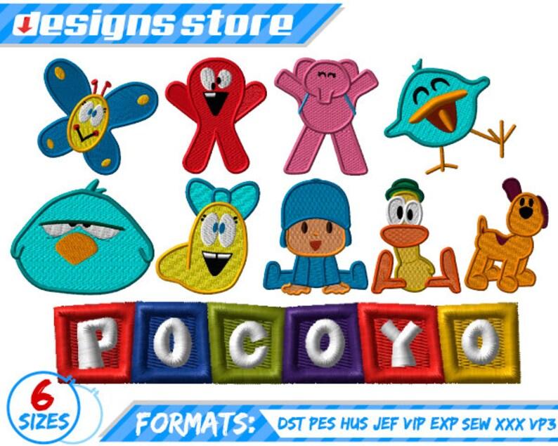 Sus Bordado ElEtsy Diseños Pocoyo Amigos Pack Para Y De f6yb7g