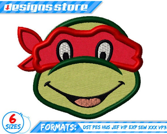Ninja Turtle Applique Embroidery Design Machine Teenage Etsy