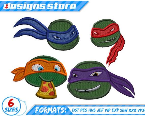 Ninja Turtle Embroidery Design Machine Teenage Mutant Ninja Etsy