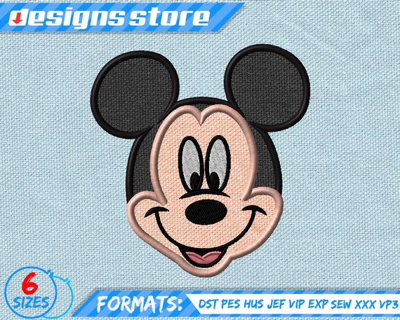 Disney mickey applique design embroidery disney embroidery etsy