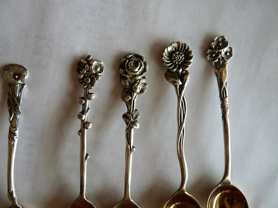 Vintage Reed /& Barton Harlequin Water Lily sterling silver gold wash Spoon 4/""