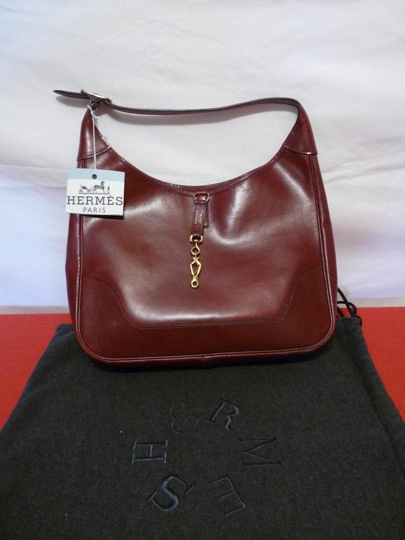 f7b25c06bfc HERMES Hermès Paris made in France Authentic Maroon   Etsy