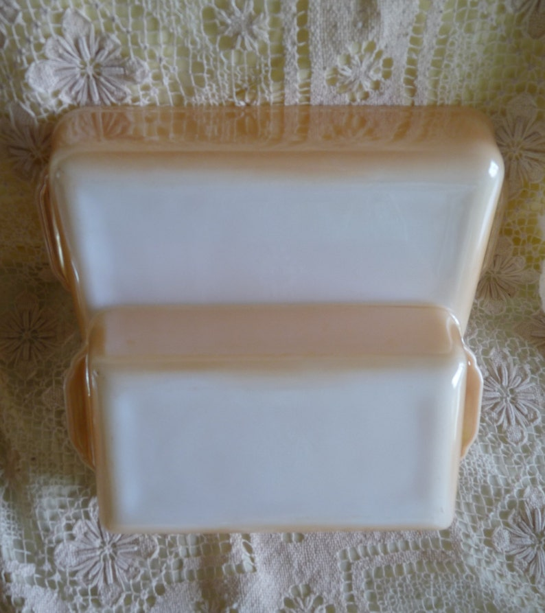 signed backwards on bottom!! FIRE KING Vintage Lot 5 Copper Tint Orange Luster Casserole Dishes Loaf Pan and Pie Plate