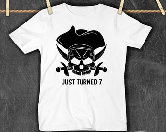 0efe2a949 Birthday Pirate age Infant Toddler Kids Tee Unisex Boys Girls Personalized  Name Child Childrens Clothing Clothes T shirt humor top Tshirt