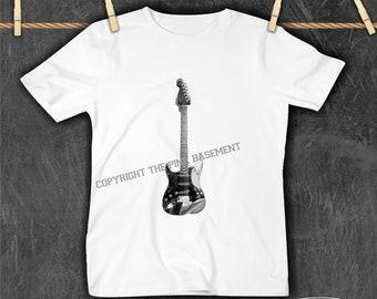 GUITARIST SUPERHERO ROCK music band xmas birthday gift ideas boys girls T SHIRT