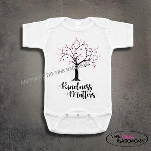 Tree Bird Kindness Matters Nature Boho Plants Unisex Baby kids funny Girls Boys Newborn Infant Onesies Shower Clothing Gifts Personalized