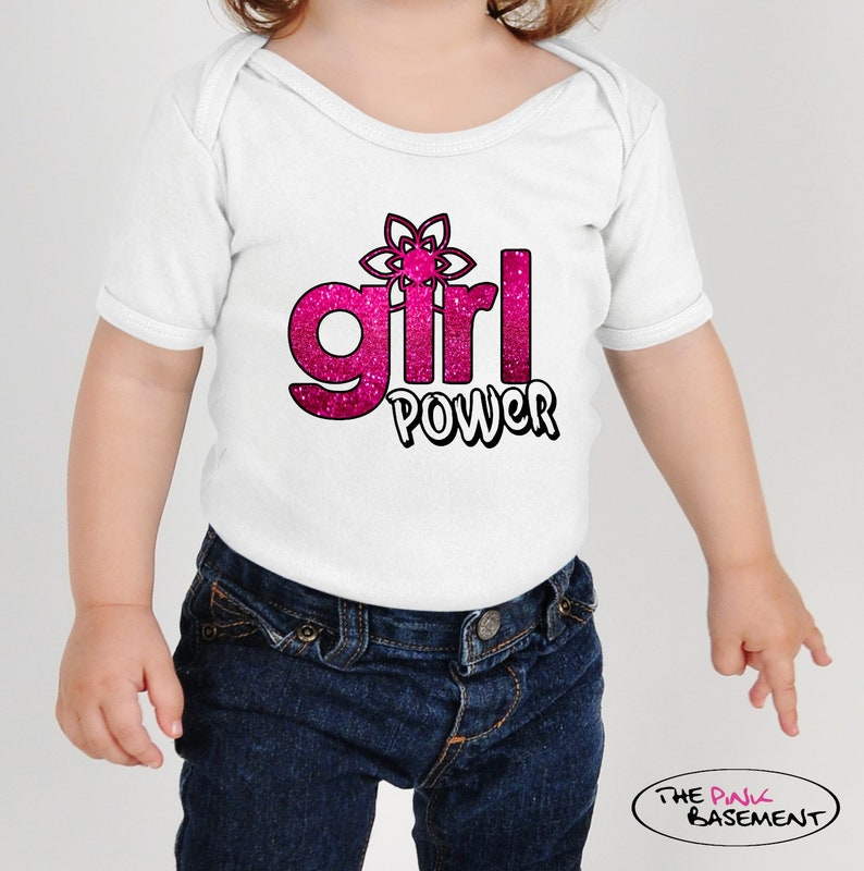 Baby Girl Power Pink Birthday Humor Cute present Clothing kids funny Girls Newborn Infant Onesies Shower Gift Clothing Gifts Personalized