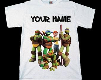 Teenage Mutant Ninja Turtles Personalised Kids Tee T-Shirt T Shirt