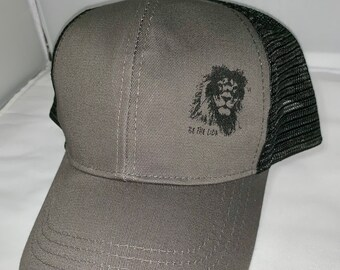b046ce4bc38 Econscious Eco Trucker Organic Recycled Hat - Be the Lion Motivational Hat  - Lion Hat - Eco Friendly Hat - Inspirational Hat - Trucker Hat