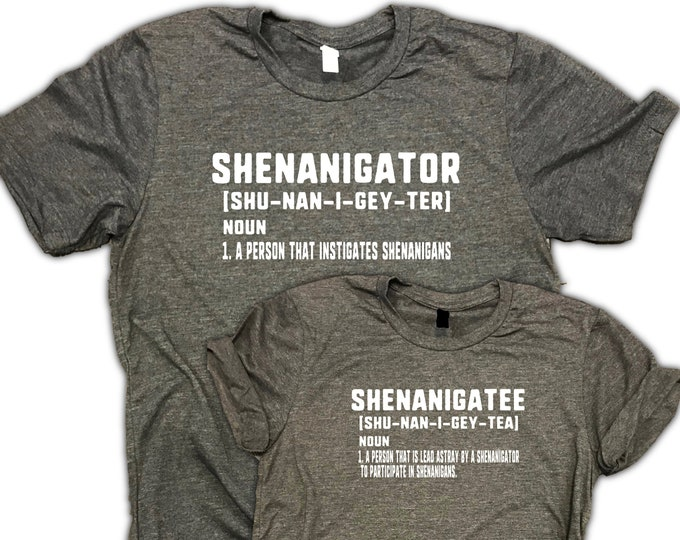Featured listing image: Funny Couples Shirt - Shenanigator - Shenanigatee - couples drinking shirts - couples brunch shirts - couples vacation shirts - couples gift