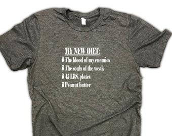 eb329e7b7f2ff my new diet mens workout shirt, Workout Shirt for Men, Mens Funny Workout  shirt, Mens Funny T shirts Workout, Gym Shirt Mens, Mens Gym Shirt