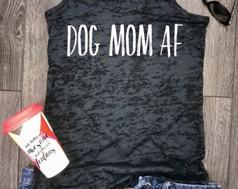 dog mom af burnout racerback tank, fur baby tank, fur babies, funny dog tank, dog tank funny, funny dog shirt, dog lover, best dog tank