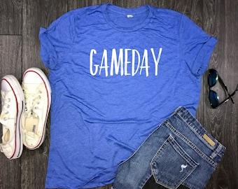 Gameday womens jersey shirt, gameday tees, tailgate shirt, womens football shirt, game time shirt, womens gameday shirt, womens gameday tee