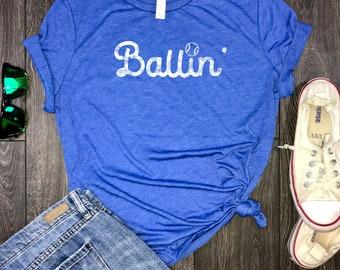 baseball mom tee, baseball mom shirts, ballin shirt, baseball mom jersey, gameday shirt, baseball shirt, baseball mom tank, baseball mom