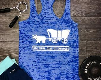 Funny Burpees tank, burpee tank, workout tank top, workout tank, women's workout tank, women's gym tank, best workout tank, workout top