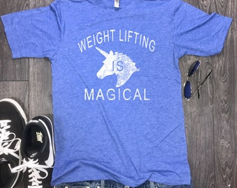 Weight Lifting is Magical mens shirt, workout shirt for men, power lifting shirt, mens workout shirt, running workout shirt, running tee
