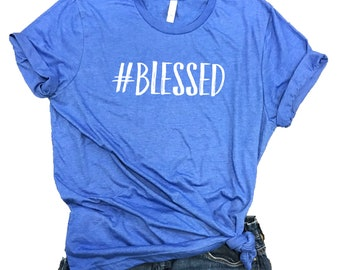 Blessed Unisex Relaxed Fit Royal Triblend Tee - #blessed