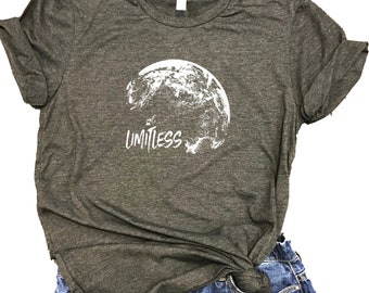 Limitless World Motivational Unisex Relaxed Fit Dark Gray Triblend Tee