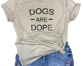 Dogs are Dope Unisex Relaxed Fit Stone Gray Triblend Tee
