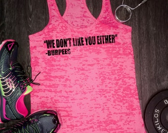 e92bbbff0ae18 You Have Died of Burpees workout tank burpee tank funny