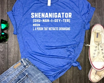 shenanigator women's shirt, day drinkin womens tshirt, shenanigans t shirt, brunch shirt, let the shenanigans being, drinking shirt, brunch