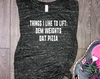 Things i like to lift womens tank, fitness tank, workout muscle tank, workout tank top, gym tank, womens workout tank, funny workout tank