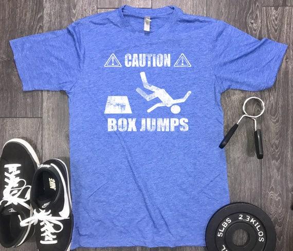 Caution Box Jumps Mens Gym Shirt Workout Shirt For Men Etsy