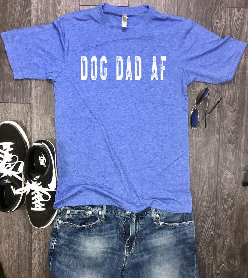 d23bb96a Dog Dad AF mens shirt dog shirt for men funny mens dog   Etsy