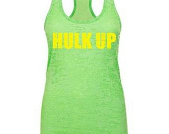 Hulk Up gym tank, hulk, fitness motivation, fitness tank, women's workout tank, womens workout tank, women's gym tank, workout