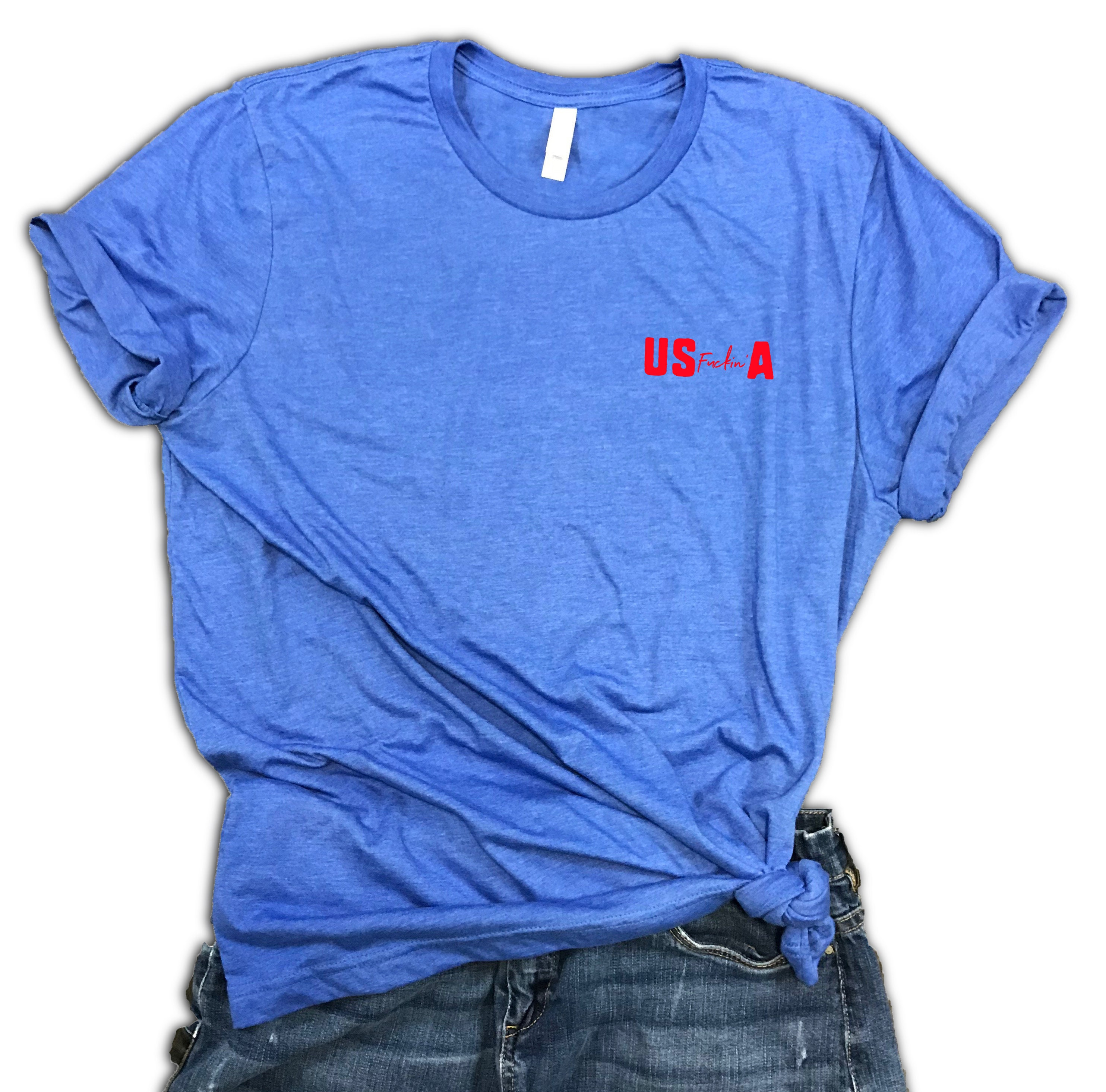 f165b4ba Funny USA July 4th Unisex Relaxed Fit Soft Blend Tee - merica shirt -  america shirt - fourth of july tee - patriotic shirt - USA drinking