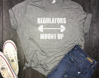 workout clothes women's, regulators mount up gym, gym shirt, womens workout shirt, workout shirt womens, barbell shirt, lifting shirt, 5k