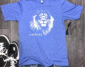 Limitless lion mens shirt, lion mens t-shirt, limitless shirt, motivational shirt, motivation mens, workout shirt, mens t-shirt, gym shirt