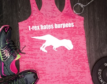 funny workout tanks for women, workout clothes, funny workout tank women, funny workout, cute workout shirts, womens workout tank, burpees