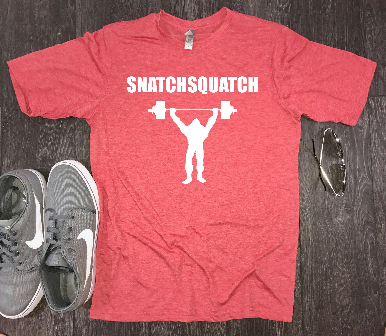 Snatchsquatch Mens Workout Shirt Funny Workout Shirt Gym Shirt