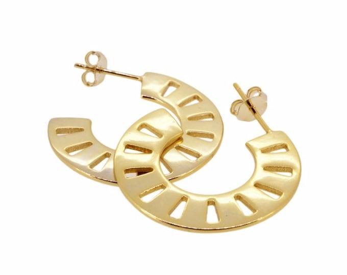 Tic tac hoop earring