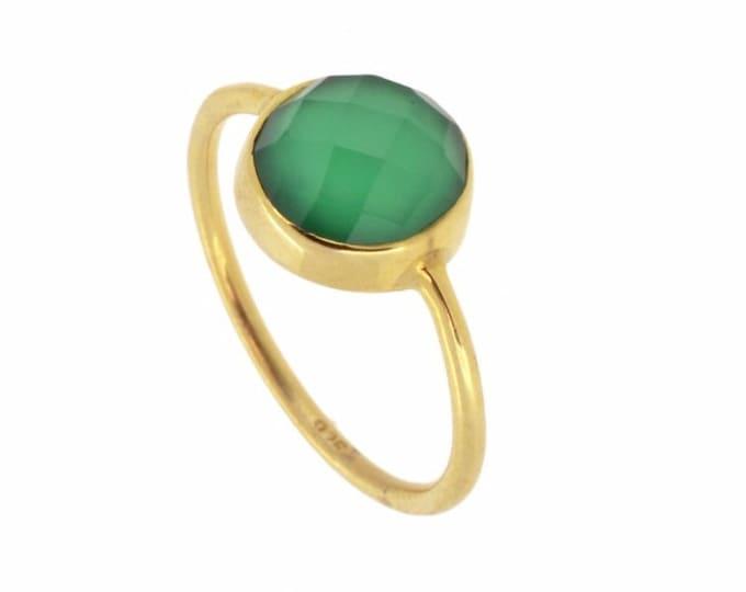 .| Anillo Saturno Onix Verde |.