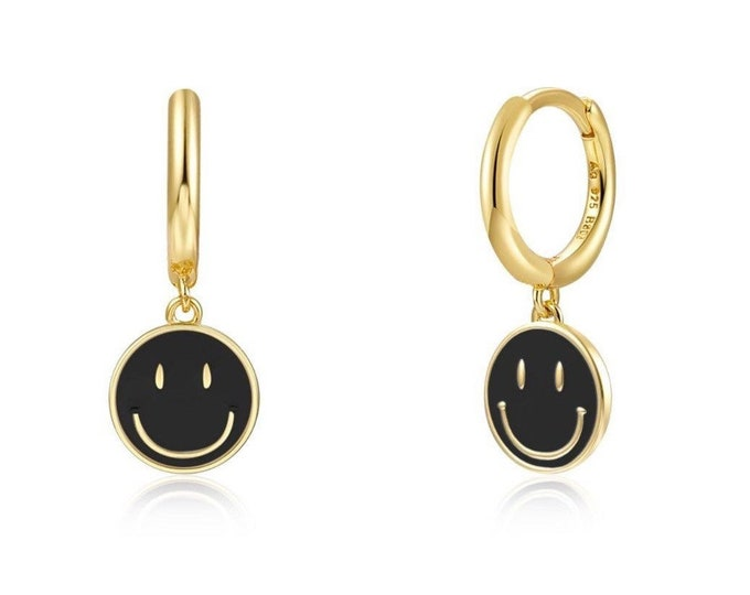Aros mini SMILEY NEGRO