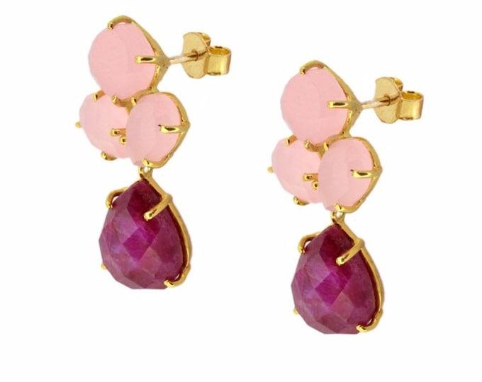 Ava Rouses Stone Earrings