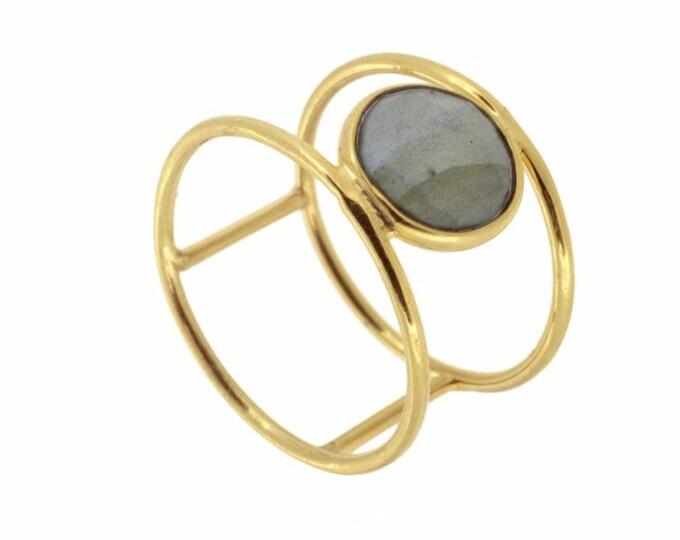 Double Labradirita Ring