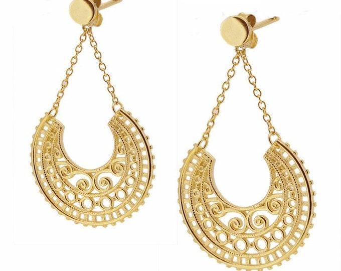 Silver earrings, filigree earrings, handmade earrings, . . . . . . . . . . . . . . . . . . . . . . . . . . . . . . . . . . . . . . . . . . . . . . . . . . . . . . Regilla Earring.