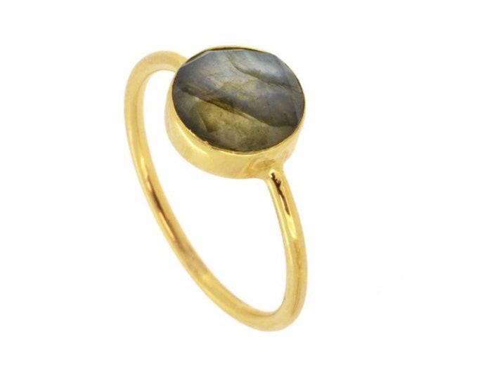 Silver Ring, Labradirita Ring, Mineral Ring, Woman's Ring, Saturn Labradorite Ring