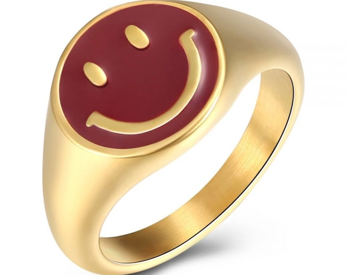 Anillo Smiley Marsala