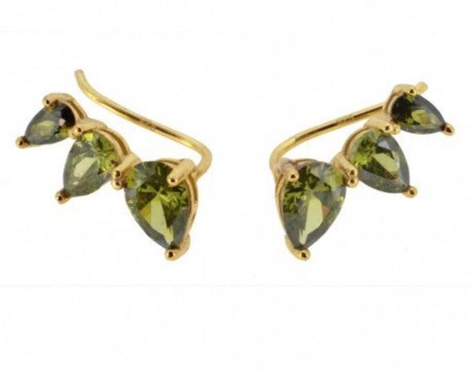 EarCuff Earrings Three Drops